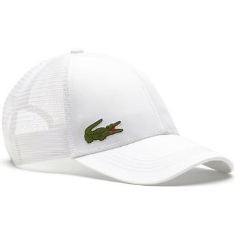 Lacoste White Trucker Hat
