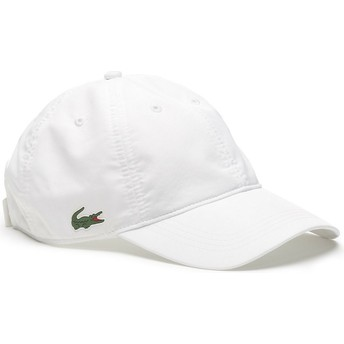 Lacoste Curved Brim Basic Dry Fit White Adjustable Cap