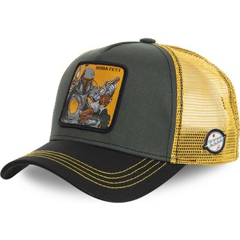 Capslab Boba Fett BOB Star Wars Green and Yellow Trucker Hat