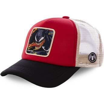 Capslab Venom VEN4M Marvel Comics Red, White and Black Trucker Hat