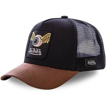 Von Dutch GRN6 Black and Brown Trucker Hat