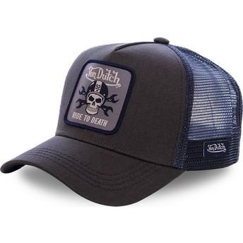 Von Dutch GRN4 Black and Blue Trucker Hat