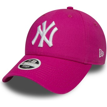 Casquette courbée rose ajustable 9FORTY Essential New York Yankees MLB New Era