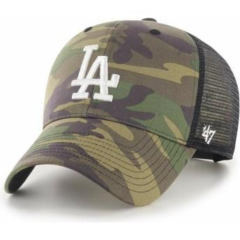 47 Brand White Logo MVP Branson 2 Los Angeles Dodgers MLB Camouflage Trucker Hat