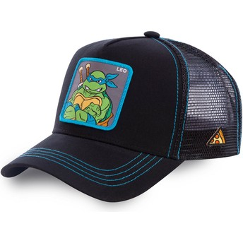 Capslab Leonardo LEO Teenage Mutant Ninja Turtles Black Trucker Hat