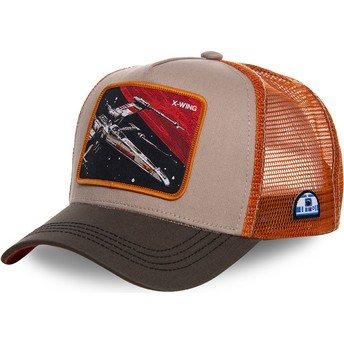 Capslab X-wing starfighter LTD5 Star Wars Grey and Orange Trucker Hat