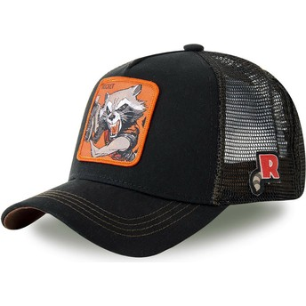 Capslab Rocket Raccoon ROC4 Marvel Comics Black Trucker Hat