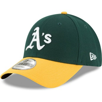 New Era Curved Brim 9FORTY The League Oakland Athletics MLB Green and Yellow Adjustable Cap