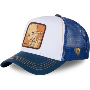 Capslab Baby Groot BGR2 Marvel Comics White and Blue Trucker Hat