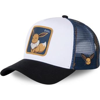 Capslab Eevee EVO3 Pokémon White, Blue and Black Trucker Hat