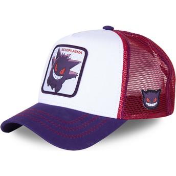 Capslab Gengar GEN1 Pokémon White, Purple and Red Trucker Hat