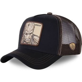 Capslab Groot GRO2 Marvel Comics Black and Brown Trucker Hat