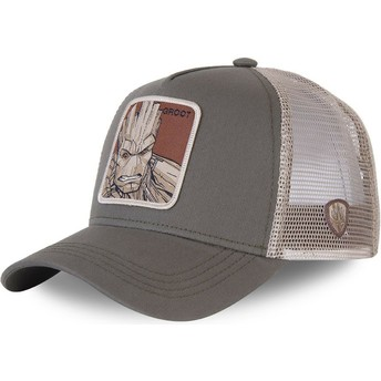 Capslab Groot GRO3 Marvel Comics Grey Trucker Hat
