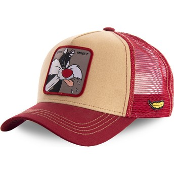 Capslab Sylvester LOOMIN2 Looney Tunes Orange and Red Trucker Hat