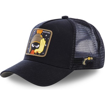 Capslab Marvin the Martian MAR1 Looney Tunes Black Trucker Hat