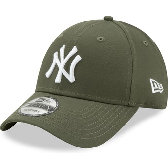 Casquette courbée verte ajustable 9FORTY League Essential New York Yankees MLB New Era