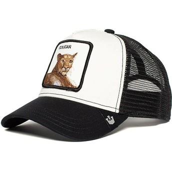 Casquette trucker noire et blanche puma Meow Meow Goorin Bros.