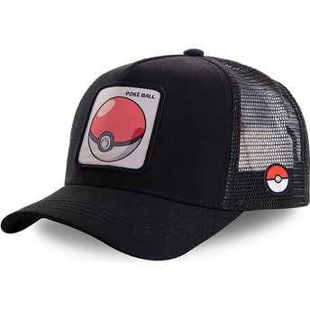 Capslab Poké Ball POK1 Pokémon Black Trucker Hat