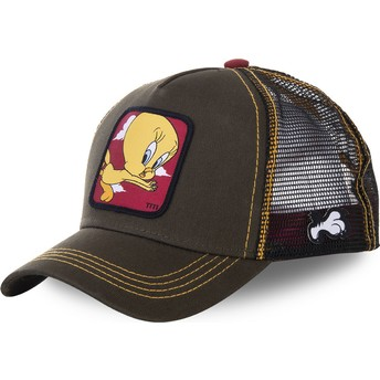 Capslab Tweety TIT2 Looney Tunes Green Trucker Hat