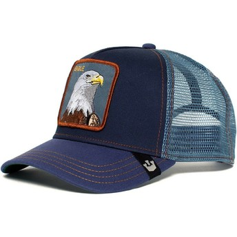Casquette trucker bleue marine aigle Eagle Goorin Bros.