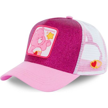 Capslab Love-a-lot CHE02 Care Bears Pink Glitter Trucker Hat