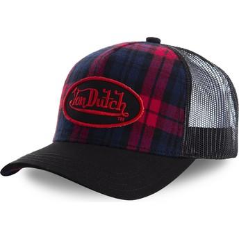 Von Dutch CARB2 Black Check Trucker Hat