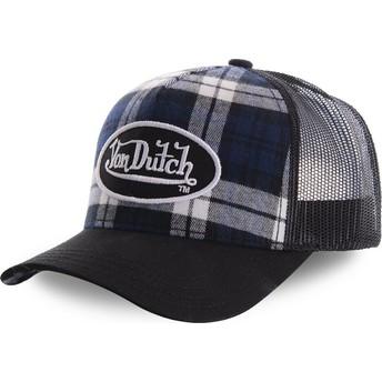Von Dutch CARD2 Black Check Trucker Hat