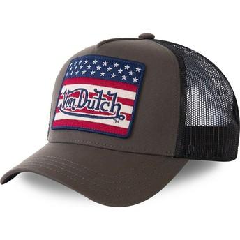 Von Dutch FLAKAK Green and Black Trucker Hat