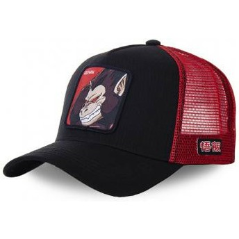 Capslab Saiyan Great Ape SAI Dragon Ball Black and Red Trucker Hat