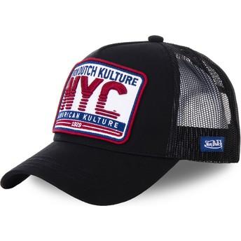 Von Dutch New York City NYC3 Black Trucker Hat