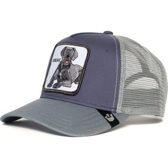 Goorin Bros. Great Dane Dog Big D Grey Trucker Hat
