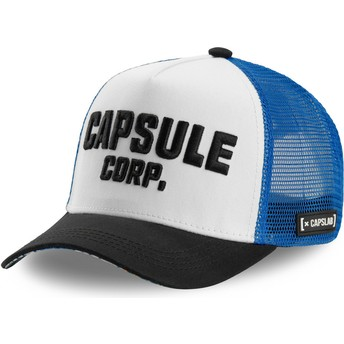 Capslab Capsule Corporation COR Dragon Ball White, Blue and Black Trucker Hat