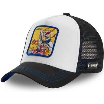 Capslab Phoenix Ikki PHO2 Saint Seiya: Knights of the Zodiac White and Black Trucker Hat