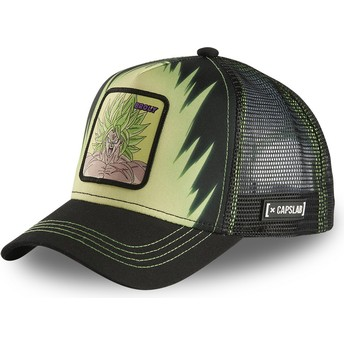 Capslab Broly Legendary Super Saiyan BRO2 Dragon Ball Black Trucker Hat