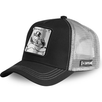 Capslab Rich Uncle Pennybags MAILLE Monopoly Black and Silver Trucker Hat