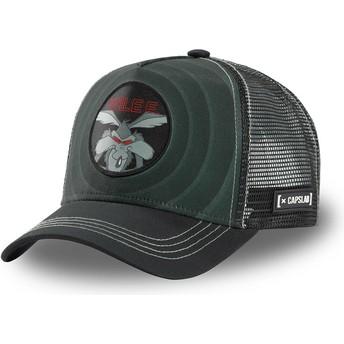 Capslab Wile E. Coyote Bullseye Color Rings WIL2 Looney Tunes Black Trucker Hat