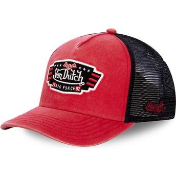 Von Dutch Air Force TOP1 Red and Black Trucker Hat