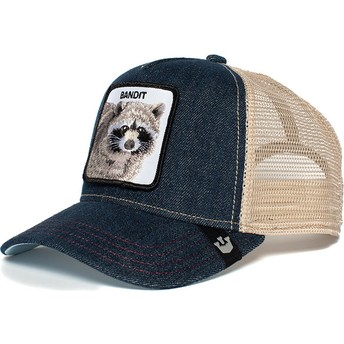 Goorin Bros. Raccoon Bandit Blue Denim and White Trucker Hat
