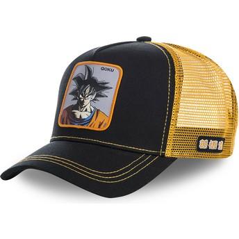 Capslab Youth Son Goku KID_GOKB Dragon Ball Black and Orange Trucker Hat