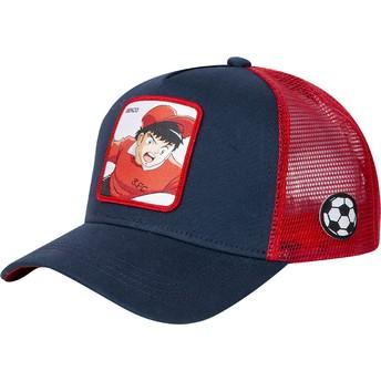 Capslab Genzo Wakabayashi WAK3 Captain Tsubasa Navy Blue and Red Trucker Hat