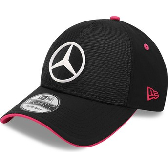 New Era Curved Brim 9FORTY Draft eSports Mercedes Formula 1 Black Adjustable Cap