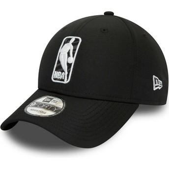 New Era Curved Brim 9FORTY Logo Hook Jerry West NBA Black Adjustable Cap