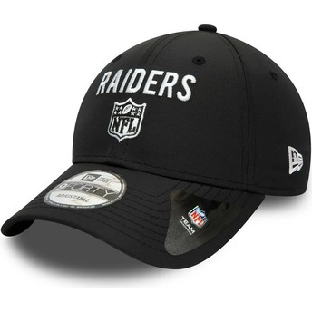 New Era Curved Brim 9FORTY Team Flag Las Vegas Raiders NFL Black Adjustable Cap