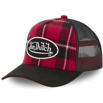 Von Dutch CAR A1 Red Checkered Trucker Hat