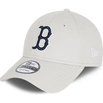 New Era Curved Brim 9FORTY League Essential Boston Red Sox MLB White Adjustable Cap