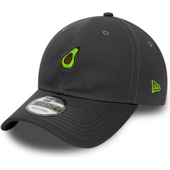 New Era Curved Brim 9TWENTY Food Avocado Grey Adjustable Cap