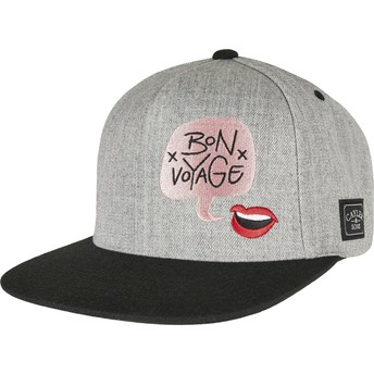 Cayler & Sons Flat Brim WL Bouble Voyage Grey and Black Snapback Cap