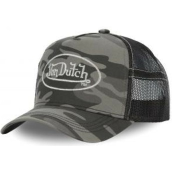 Von Dutch CAM SIL Camouflage Trucker Hat