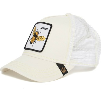 Casquette trucker blanche abeille Queen Bee Goorin Bros.