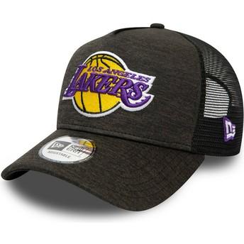 New Era Shadow Tech A Frame Los Angeles Lakers MLB Black Trucker Hat